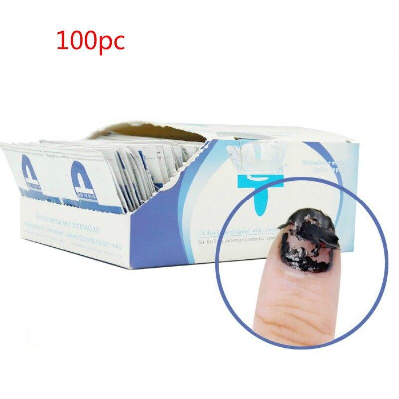 Limpiador de uñas Gel removedor de esmalte de uñas toallitas sin pelusas 100 unids/set arte de uñas manicura fácil envuelve las uñas UV herramientas para quitar esmalte de Gel 5 uds 3,5 MM Clip de plástico negro en EMI RFI Filtro de núcleo de ferrita de Cable de supresores de ruido extraíble