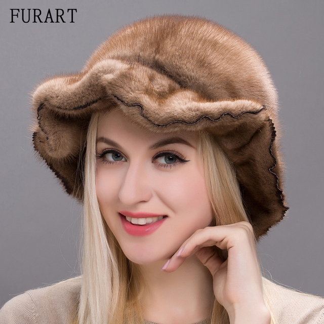 real whole mink fur hats and winter warm mink skin hat for women Lace Embroidery flower cap new chapeau adjustable DHY17-16A