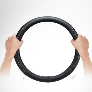 Image 5 - עור מפוצל הגה כיסוי רכב פנים אביזרי עבור Bmw מיני קופר S JCW אחד F54 F55 F56 F60 R60 R61 רכב סטיילינג