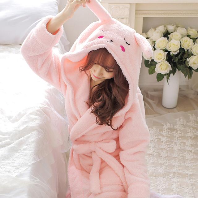 Women's Cute Style Plush Robe