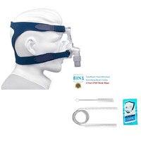 CPAP Nasal Mask With Headgear For Sleep Apnea Anti Snoring & CPAP Cleanning Brush Kit Fits For Standard 22mm&19mm Diameter Tube