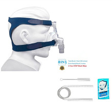 CPAP Nasal Mask With Headgear For Sleep Apnea Anti Snoring & CPAP Cleanning Brush Kit Fits For Standard 22mm&19mm Diameter Tube недорго, оригинальная цена