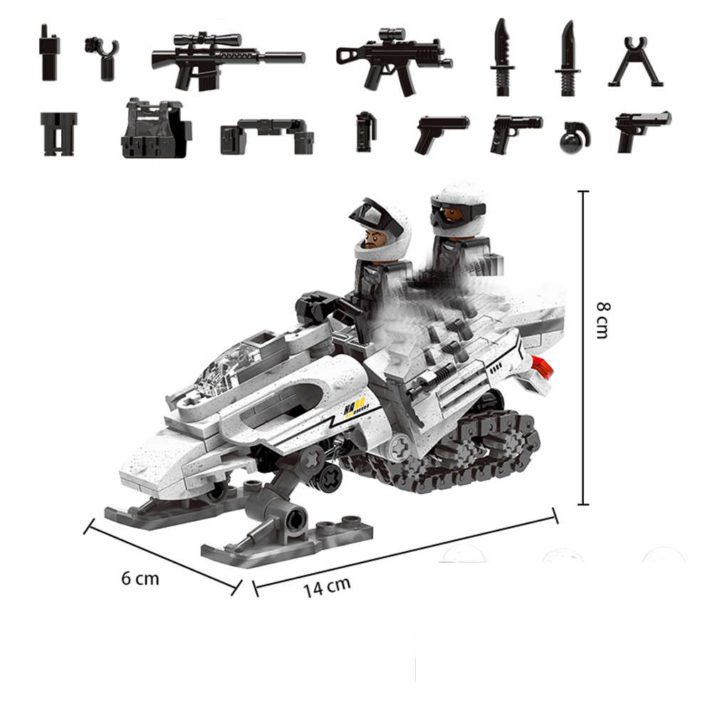 hot LegoINGlys military WW2 Soviet Army Snow motorcycle war moc Building Blocks model mini weapen soldier figure brick toys gift