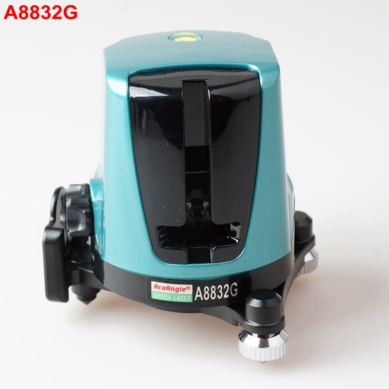 AcuAngle A8832G Portable Laser Level Tape Measure 2 Green Cross Lines 360 Self-leveling Laser Levels green acuangle a8832g laser level 635nm 2 cross lines 360 rotary laser levels indoor outdoor portable automatic high brightness