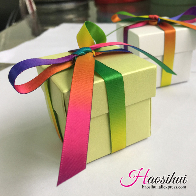 Us 27 63 15 Off Haosihui 50pcs Lot Wedding Color Gift Boxes Baby Shower Birthday Favors Candy Boxes Gifts Bag Party Supplies Free Mail In Gift Bags