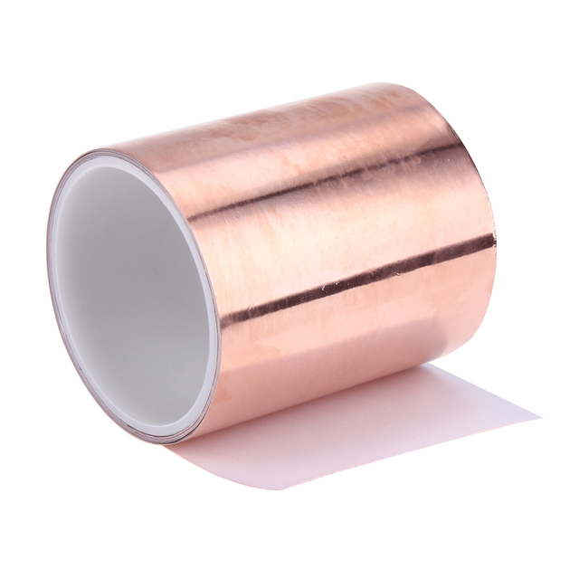 3 Meters 10cm Double Electric Conductive Adhesive Tape EMI Shielding Copper Foil Tape Single Face