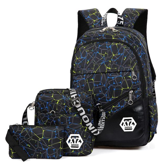 1ffc3807 US $18.9 40% OFF|New 3 Pieces School Backpack Set Camouflage Printing  School Bag Kids Oxford Bagpack For Teenage Boys Students Schoolbags  Mochila-in ...