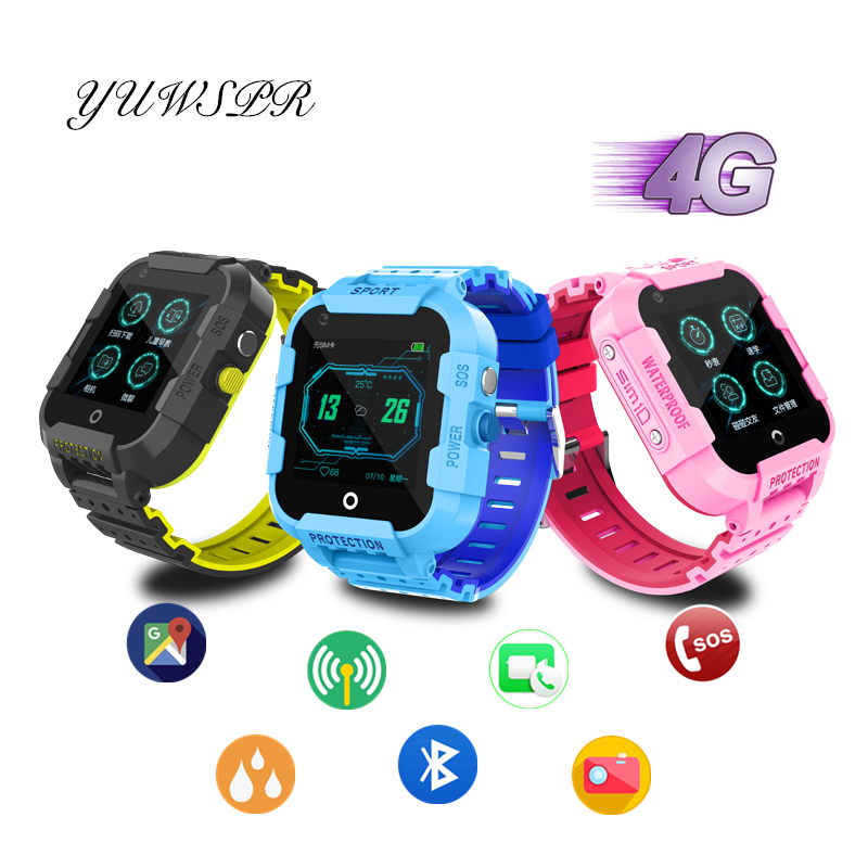 Kids tracker 4G smart watch GPS LBS WIFI positioning Bluetooth SOS call Camera children tracking watches clock gift DF39Z