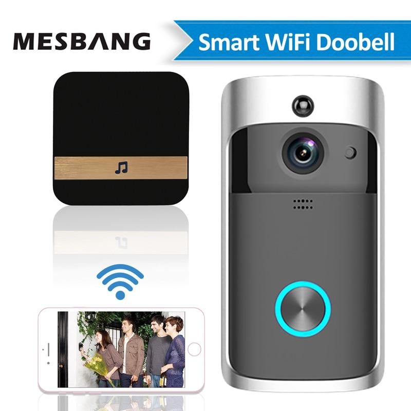 Nieuwe Batterij Wifi Deur Video Deurbel Intercom Draadloze Deur Belll Video Deurtelefoon Deurtelefoon Camera Ondersteuning Tf Card