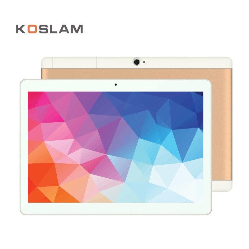 KOSLAM 10 pouce Comprimés PC Android 7.0 Quad Core IPS 1 GB RAM 16 GB ROM Double Carte SIM 3G Appel Téléphonique 10 Phablet Tablet pcs