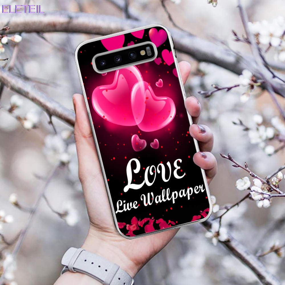 Phone Bags & Cases Fitted Cases Frank Eleteil Flower Pattern Case For For Samsung S9 Case S10 Plus S6 S7 Edge Englih Love Phone Cases For Samsung S10 S10e Cover E40