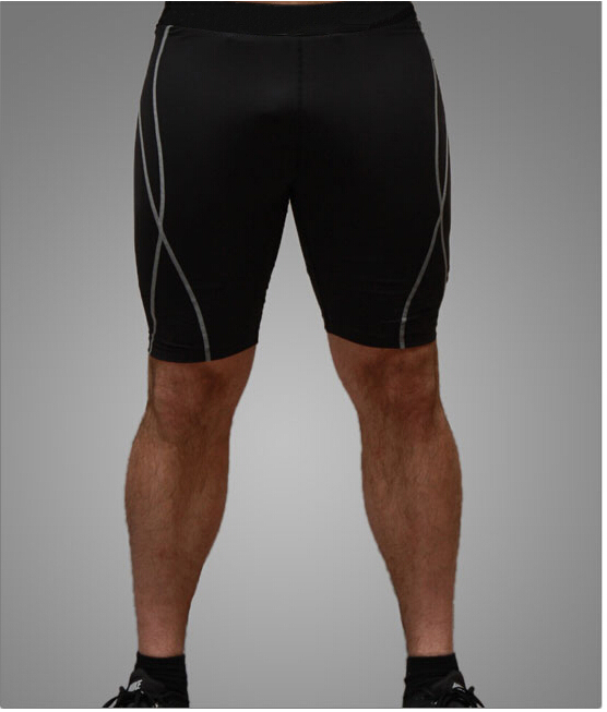 TFGS  New Men Tight  Shorts Breathable Quick Dry Bodybuilding Fitness Skin Tights Male Brand Shorts