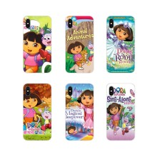 For LG G3 G4 Mini G5 G6 G7 Q6 Q7 Q8 Q9 V10 V20 V30 X Power 2 3 K10 K4 K8 2017 Silicone Skin Case Dora The Explorer Boots Cartoon(China)