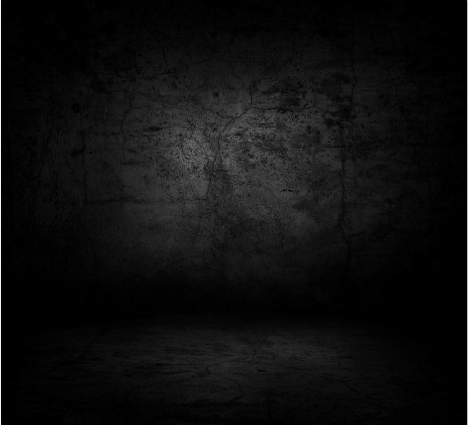 10x10ft Dark Black Concrete Wall Floor Custom Photo