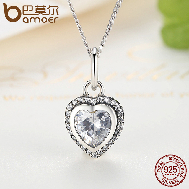 Sterling Silver Sparkling Love Heart Jewelry Set