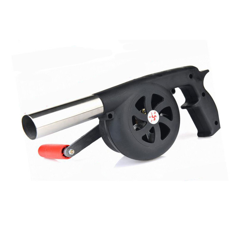 Outdoor Cooking BBQ Fan Air Blower For Barbecue Fire Bellows Hand Crank Tool for Picnic Camping stove accessories hot sale dc12v 2 7a turbo blower fan 3 wire air volume large barbecue stove centrifugal for bbq cooking cooler fan