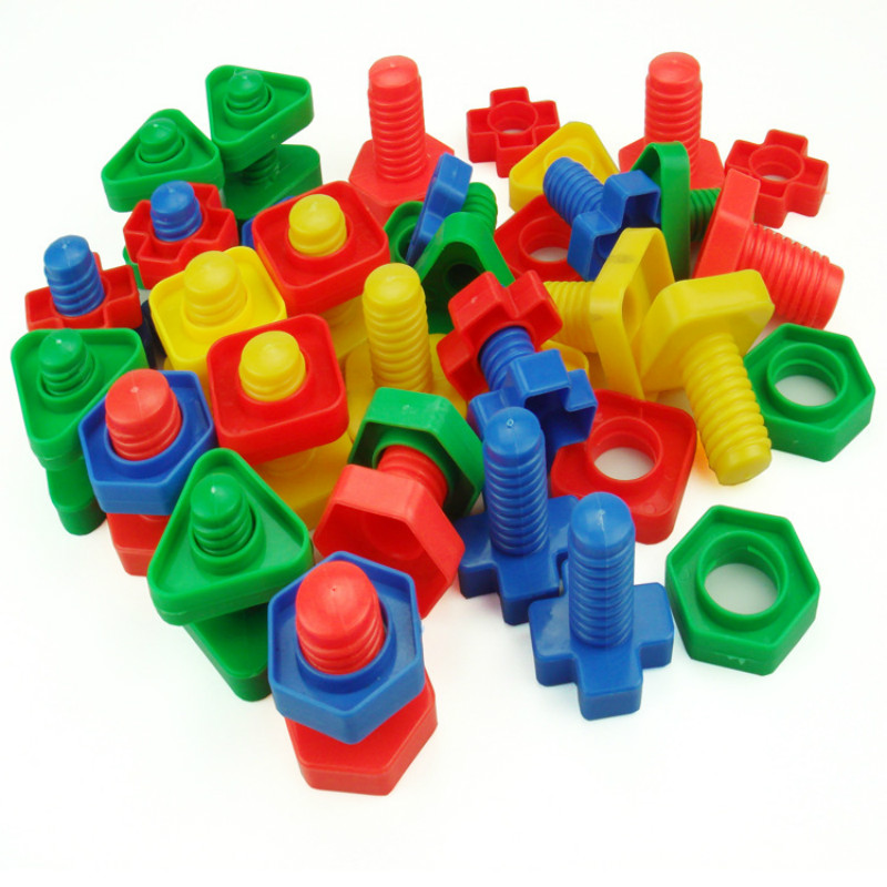 Jumbo Nuts and Bolts Set - Arbeidsterapi - Matchende Fine Motor Toy for småbarnsforskolebarn