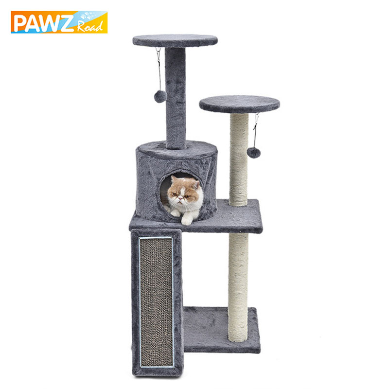 New H116cm Cat Toy Climbing Furniture Fun Cat Scratching Solid Wood for Cat House Frame Kitten Climbing Products