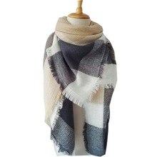 Winter scarf 2016 women Tartan Plaid Scarf Desigual Scarf cuadros New Designer Unisex Basic Acrylic Shawls hot bufandas