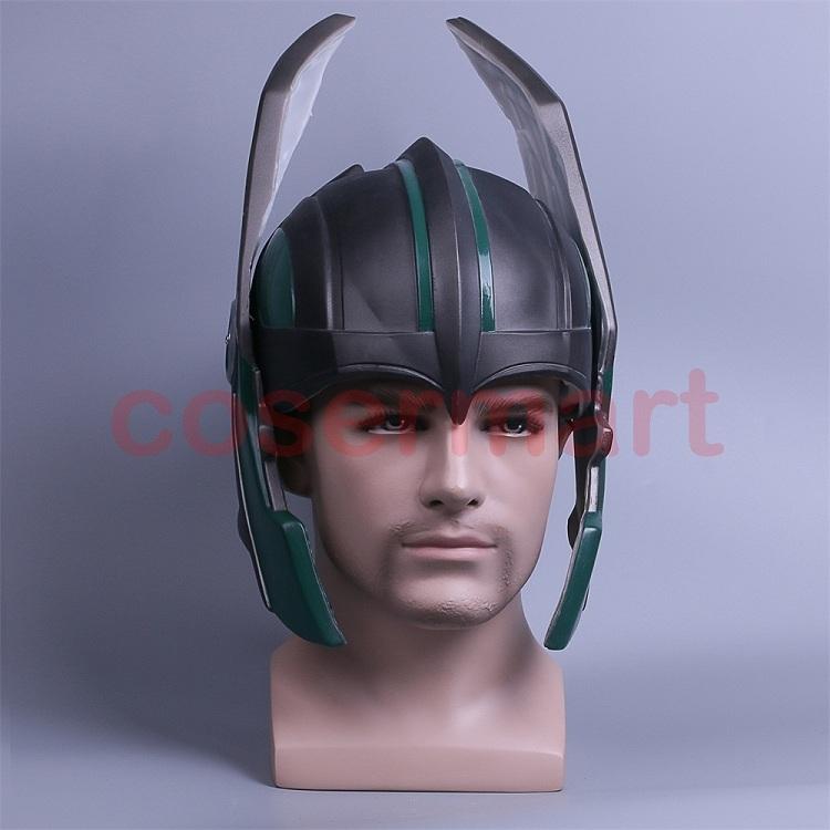 2017 Thor 3 Ragnarok Helmet Cosplay Thor Helmet PVC Mask Handmade Halloween Mask Caps New (1)