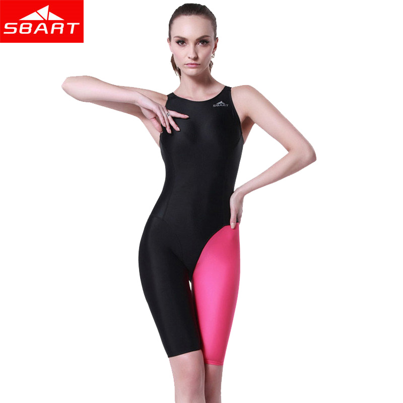 SBART One Piece Swimsuit Black Bathing Suit Women Swimming Competition Plus Size Swimwear Professional Swimming Monokini Suits O sbart upf50 rashguard 2 bodyboard 1006