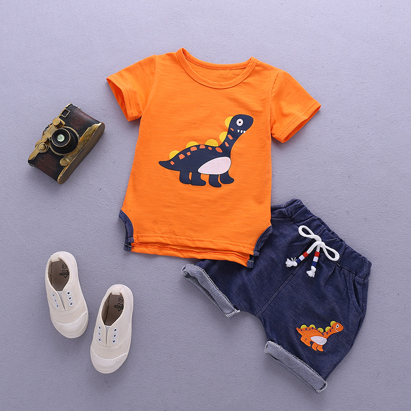 Baby Boys Clothes Sets Children Clothing Summer Short Sleeve Tracksuit For Boys Sport Suits Animal Costume For Kids Clothes 2017 kids clothes children boys summer clothing sets baby spiderman batman short sleeve suits roupas infantis menino costume