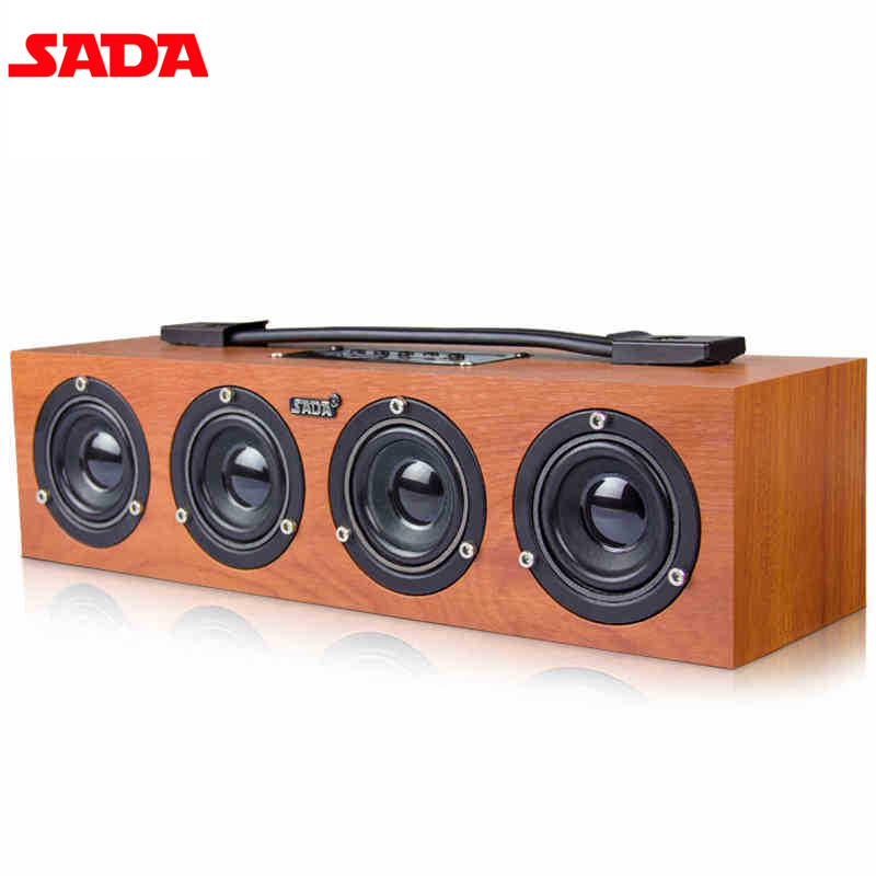 SADA A1 Portable Wooden Wireless Bluetooth Speaker Subwoofer Surround Stereo PC USB Wood Speaker TF Card U Disk цены