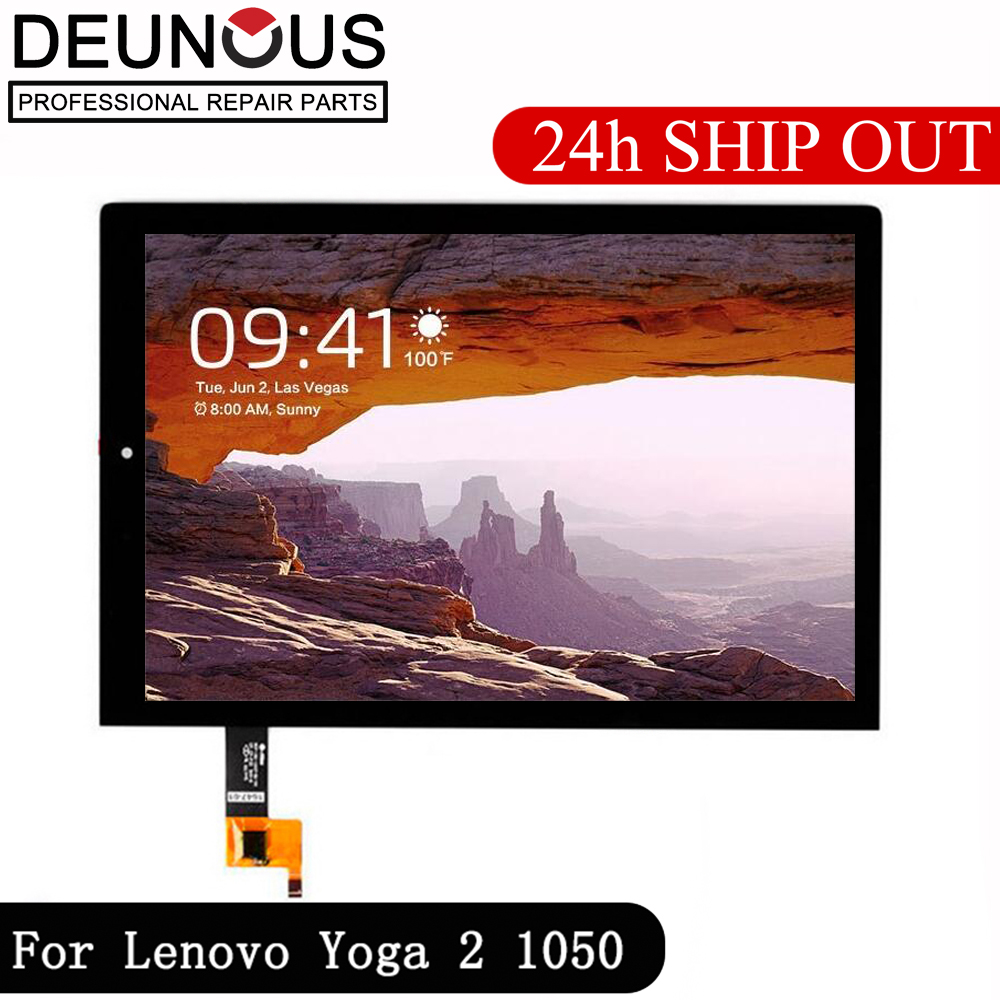 New 10.1'' Inch For Lenovo Yoga Tablet 2 1050 1050F 1050L LCD Display Monitor + Digitizer Touch Screen Panel Replacement Frame