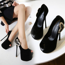 Pumps Bowknot High Heel Peep Toe Size 34-40