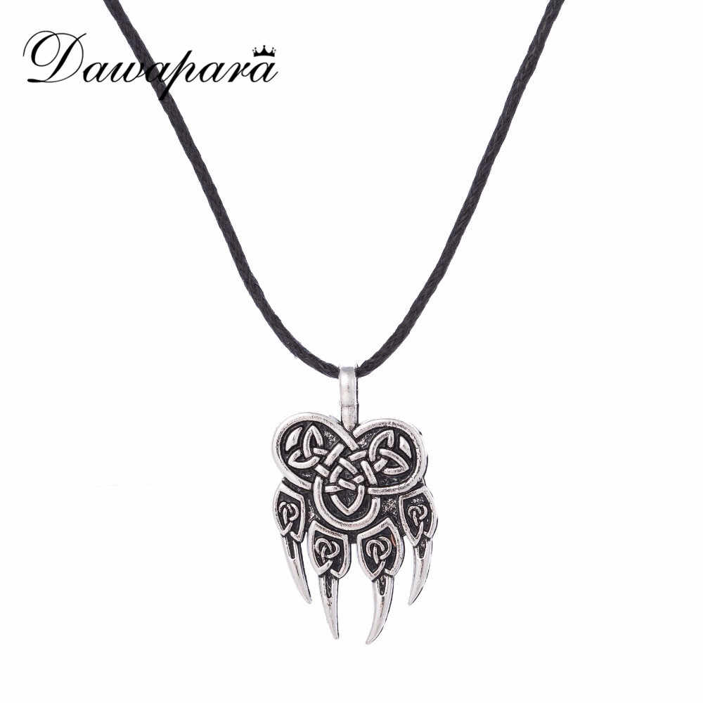 Dawapara Paw Talisman Amulet Viking Jewelry Slavic Pendant Necklace Veles God Symbol Warding Bear  Men Religious Charms Necklace