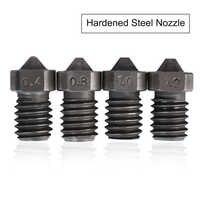3D Printer Parts V6 Nozzle Hardened Steel Nozzle M6 Thread 1.75mm 0.4/0.8/1.0/1.2mm Filament High quality nozzle