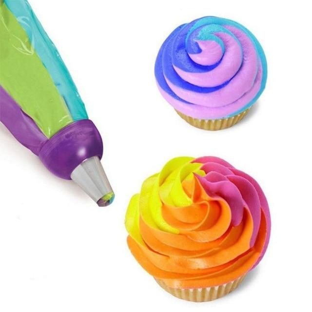 1 pcs Hot Sale 3 Color Cake Decorating Tools Icing Piping Cream Pastry Bag Nozzle Converter manga pastelera