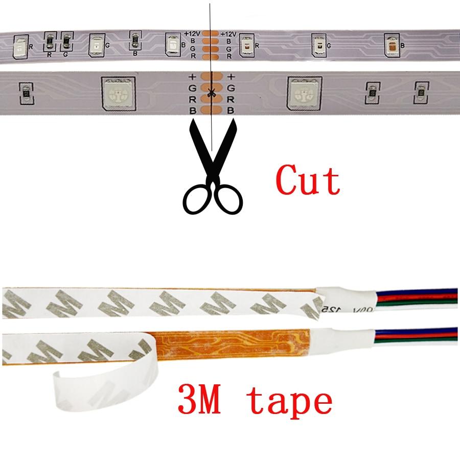 RGB LED traka SMD 2835 LED svjetla DC 12V 5050 Strip 5M 10M - LED Rasvjeta - Foto 4