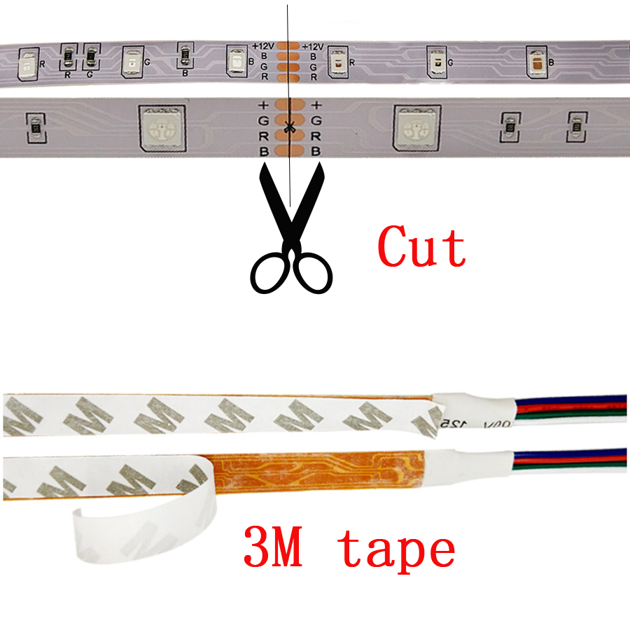 Tiras de Led rgb tira conduzida 2835 smd 2835 Rgb Led Strip : Without White Light
