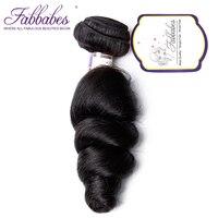 Fabbabes Brazilian Virgin Hair Loose Wave 1 Piece 100 Unprocessed Hair Extensions Human Hair Weave Bundles