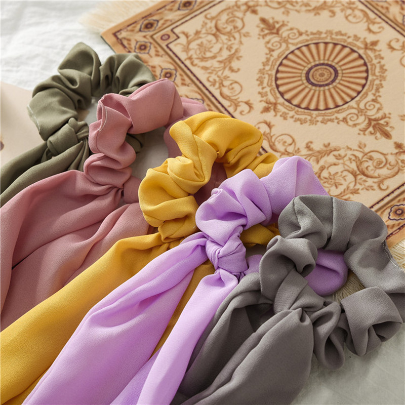 1 Pza 2019 nueva moda de verano para mujer, cinta elástica, cinta para el cabello, lazo, bufanda para el cabello, cuerdas de goma para niñas Y MUJERES