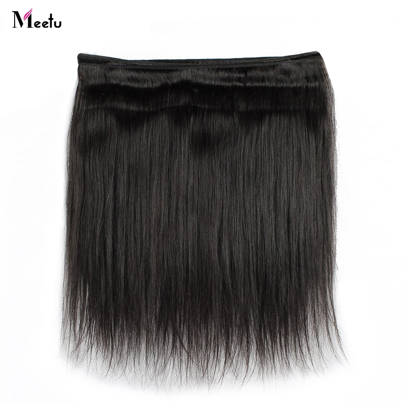 Meetu Brazilian Straight Hair Weave Bundle Non Remy Human Hair - Skønhed forsyning - Foto 5