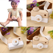 Cámara de juguete de madera para bebés y niños, accesorio de fotografía de decoración para casa de juegos, juguete para regalo