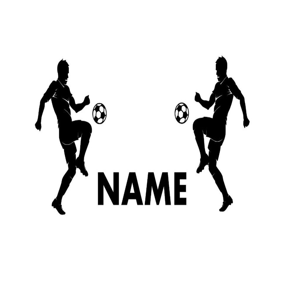 Us 7 98 20 Off Personalisierte Namen Wand Vinyl Aufkleber Boy Zimmer Sport Fussball Spieler Wand Aufkleber Schwarz Wandbild Tapete Kinderzimmer