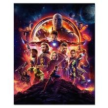 Современный фильм Шелковый плакат Мстители Настенная картина для гостиной спальни украшение большой Шелковый настенный арт танос Marvel принты