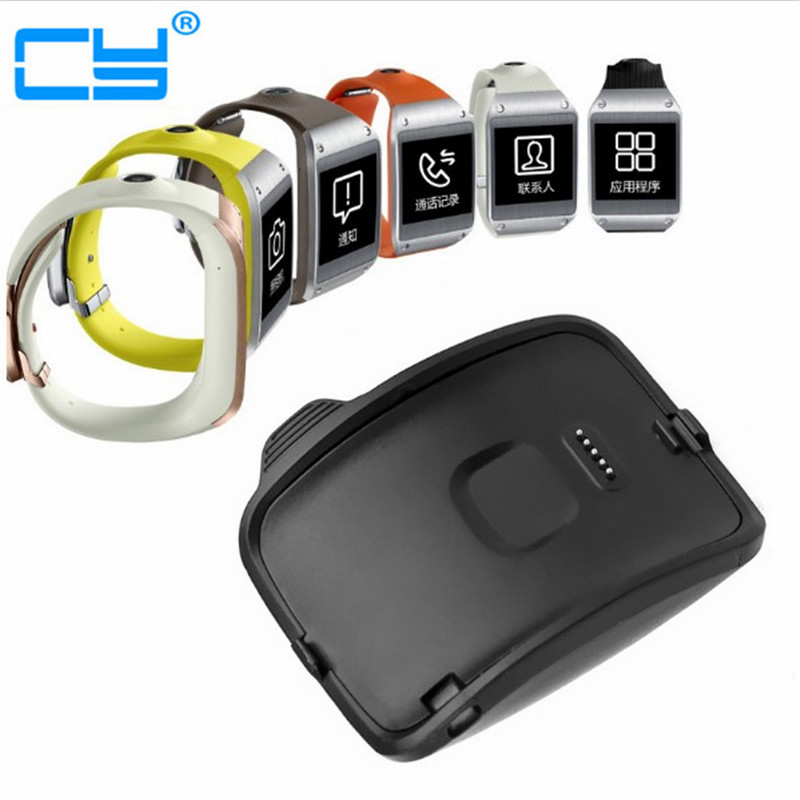 Portable USB Power Supply Charging Cradle Holder Dock Charger For Samsung Galaxy Gear Charger S Smart Watch R750 Charger qi wireless charger charging receiver transparent cover
