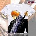 Anime Unisex Encabeça Tee camiseta LIXÍVIA Cosplay Kurosaki Ichigo Ishida Uryuu T-Shirt Dos Desenhos Animados New Anime tshirts