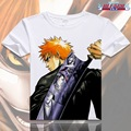 Anime Unisex Tops Tee BLEACH T shirt Cosplay Cartoon Ishida Uryuu T-Shirt New Anime tshirts Kurosaki Ichigo