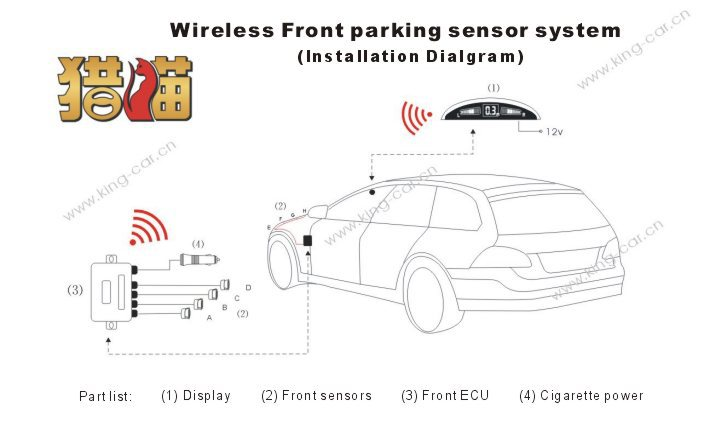 wireless front detection car parking sensor system cigarette lighter-in  Parking Sensors from Automobiles & Motorcycles on Aliexpress com   Alibaba