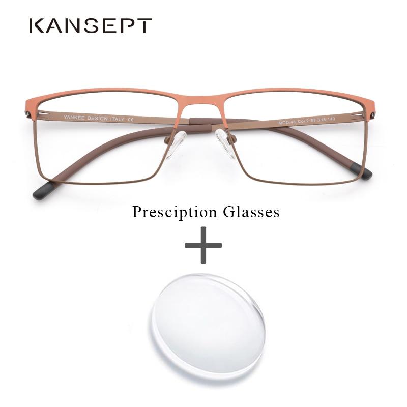 Metal Prescription Eyeglasses Optical Bifocal Progressive Photochromic Anti Blue Clear Lens Prescription Glasses For Men