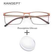 4d71ace4e2 De Metal receta anteojos ópticos Bifocal fotocrómico progresiva Anti azul  claro lente gafas para hombres