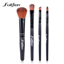 Fulljion 4pcs/set Women Makeup Brush Set Eyeshadow Eyeliner Blush Contour Foundation Face Powde Cosmetic Beauty Make Up Brushes