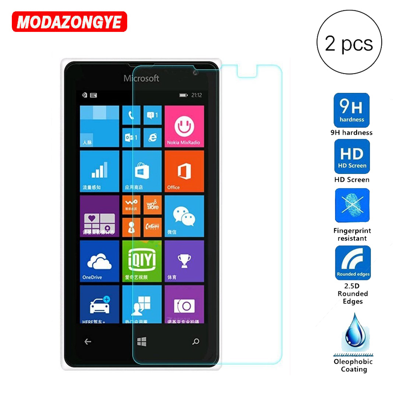 2Pcs Tempered Glass For Nokia Lumia 532 Screen Protector Film Protective Tempered Glass For Microsoft Lumia 532 Dual Sim N532