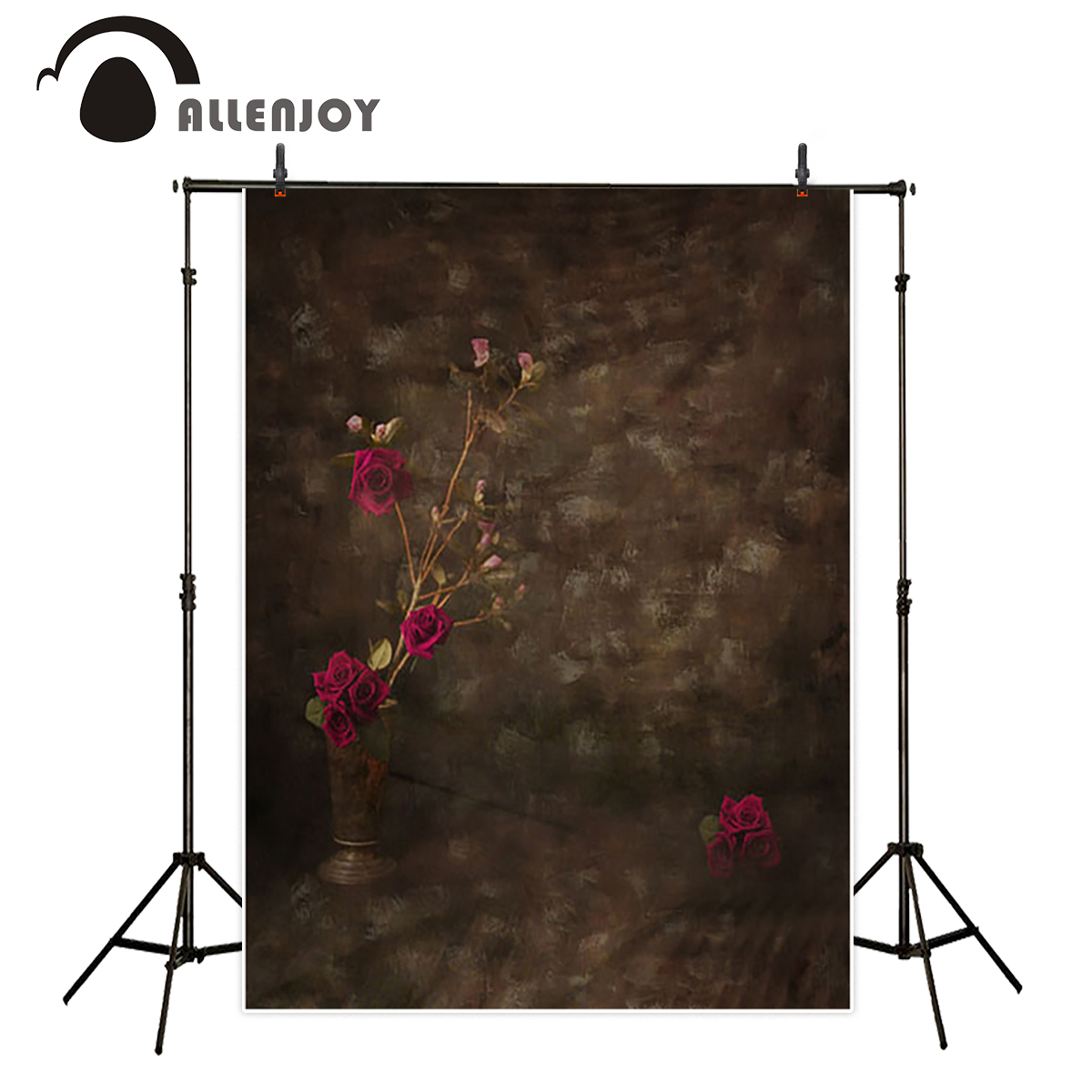 Allenjoy newborn photography background vintage rose flower brown oil painting backdrop portrait shooting fantasy props 8x10ft valentine s day photography pink love heart shape adult portrait backdrop d 7324