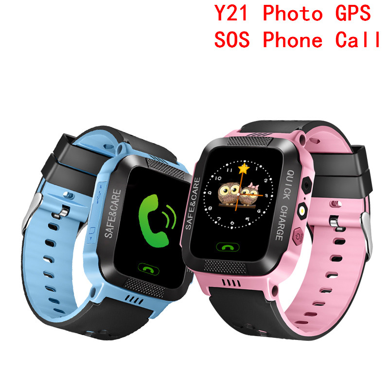 Y21 Kid Smart Watch Q528 Y21S GPS Smart Bracelet SOS Phone Call SIM Children Smart Watch VS Q750 Q100 Q90 Q50 Drop Shipping q50 smart watch blue